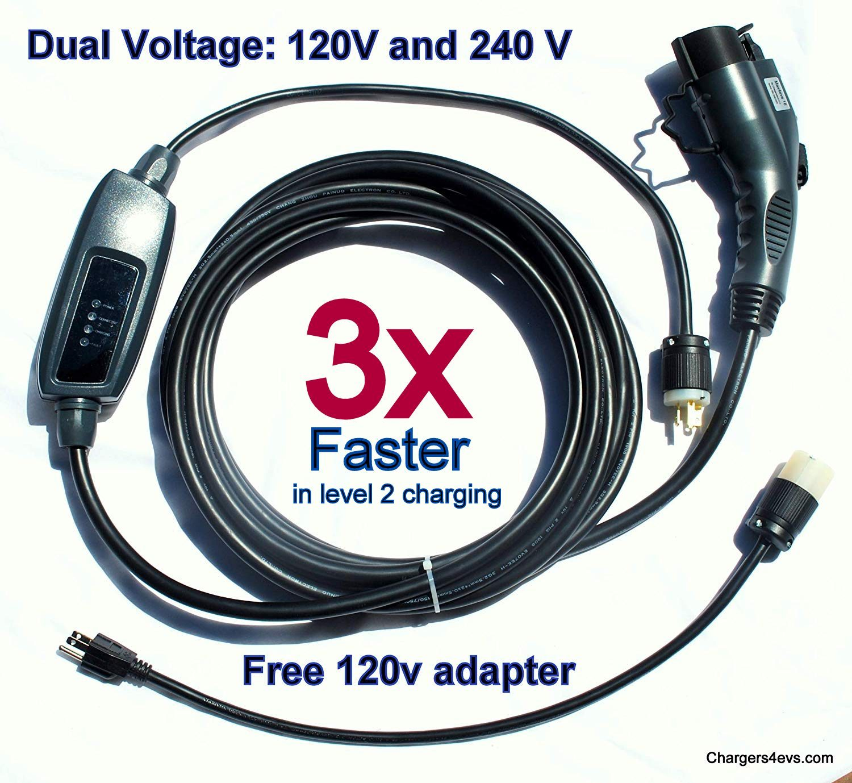 New Ma 16 Electric Vehicle Charger 110v 240v With Nema 6 20 Plug 28 Ft Long Level 2 Amp Car J1772 Evse